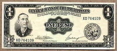 Philippines XF Note 1 Peso ND Law 1949 P-133h