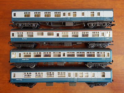 Mainline Hornby Br Coaches X 4 Very Good Condition Unboxed Oo Gauge(Ch)