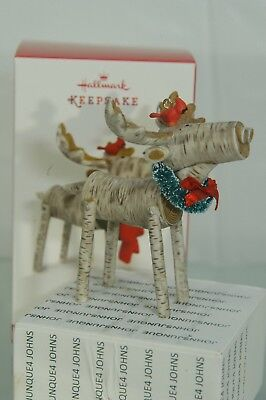 Merry Moose Hallmark Ornament 2017 Holiday Moose Ships Out Now! Free Ship In Us