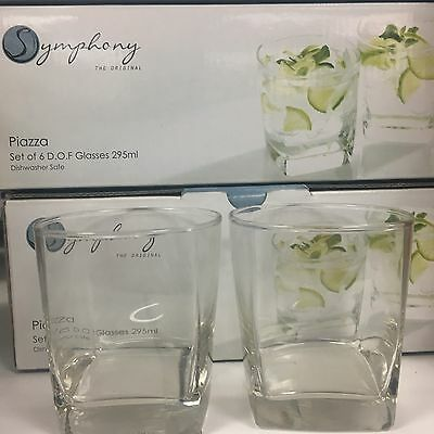 Square Shaped Wisky Glasses Set 12  (Symphony)