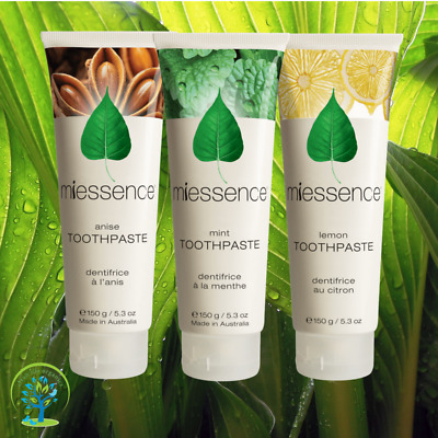 Miessence 100% Natural Certified Organic Toothpaste-Various Flavours *Free Offer