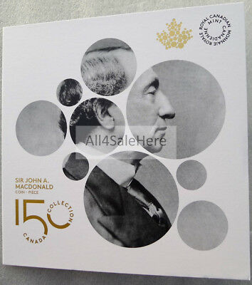 2015 Canada Sir John A. Macdonald $2 Dollars Toonie Coin in RCM Coin Card Folder