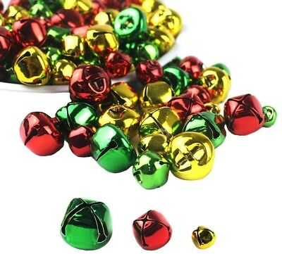 Whonline 150pcs Colorful Christmas Metal Bells Craft For Festival Decoration (3