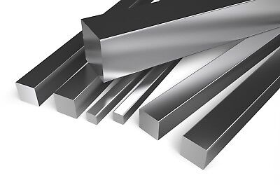 Aluminium Square Bar Many sizes lengths Aluminum Alloy Metal Rod Section Strip