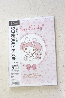 Sanrio My Melody Date book Schedule 2018 B6 Kawaii Japan New Free shipping #1