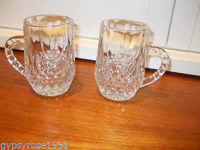 2 Matching  Lead Crystal Beer Glasses  (Cristal d'arques ? )