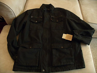 men's black levi's winter jacket size med new with tags