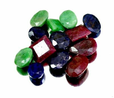 Natural Emerald Sapphire Ruby Ring Size Loose Gemstone Wholesale Lot