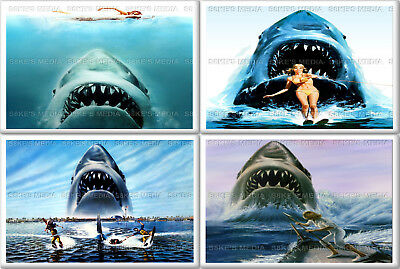 Jaws Fridge Magnet 50mm x 35mm