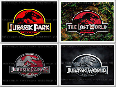 Jurassic Park Fridge Magnet 50mm x 35mm