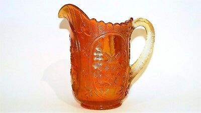 Antique Imperial, Double Dutch, Windmill Design, Marigold Carnival Glass Jug