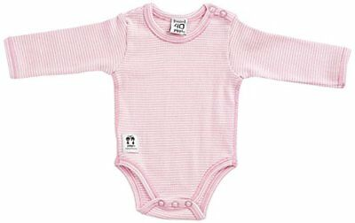 Pippi - Body Ls W.buttons O.shoulder, Body unisex bimbi, Candy Floss, 62 (F3F)