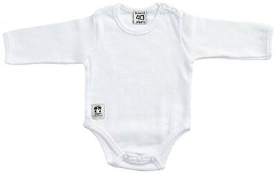 Pippi Body Ls W.buttons O.shoulder-Body Bebé niños, Blanco (Weiß - (F4D)