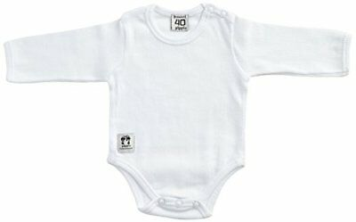 Pippi Body Ls W.buttons O.shoulder-Body Bebé niños, Blanco (Weiß - (V5e)