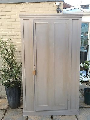 Antique Victorian Pine Large Housekeepers Cupboard Larder Painted F&B