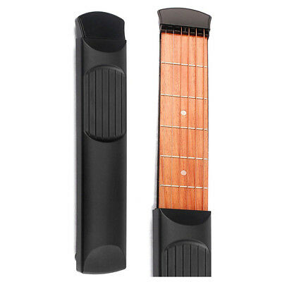 Portable Pocket Guitar 6 Fret Model Wooden Practice 6 Strings Guitar K8Z7