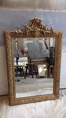 Antique French Mirror 4ft nearly.