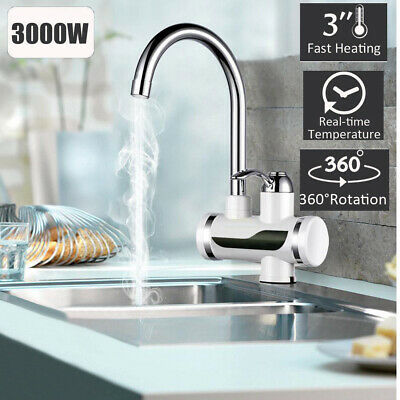 New Bath Sink Heater Faucet Tap Electric Instant Cold&Hot Water Mixer 360°