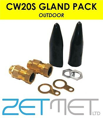 CW20S SWA Small 20mm Armoured Outdoor Cable Gland Pack Kit Steel Wire Pack Of 2