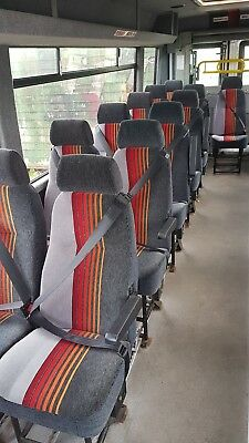 bus / coach / motorhome / camper seats with seatbelts