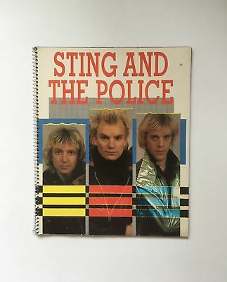 Sting & The Police 1984 Spiral Bound Book-Beekman House