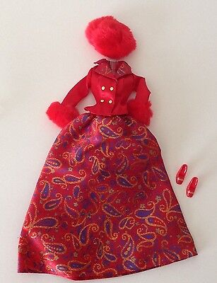 Image result for red paisley gown