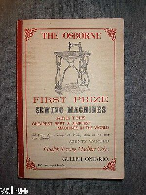First Prize Sewing Machines Book - Guelph Ontario Canada