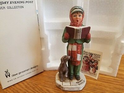"""Norman Rockwell """"Carroler"""" 5 1/2 inch NR-3 FREE SHIPPING"""