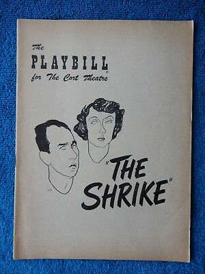 The Shrike - Cort Theatre Playbill - March 3rd, 1952 - Jose Ferrer - Evelyn