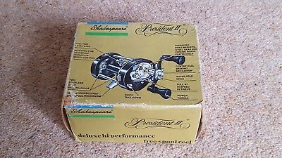 Vintage Shakespeare President II 1984 Free Spool Casting Reel.Made in USA....