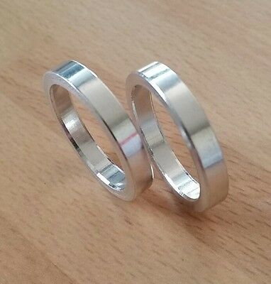 """1"""" x 5mm Alloy Headset Spacers (x2)"""