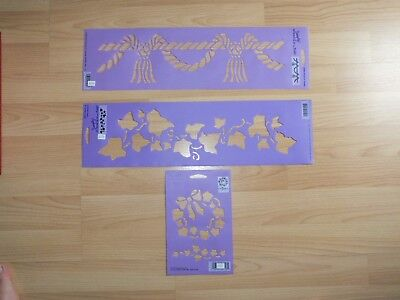 Stencil pack Ivy, Wreath & Rope Border for Decorating, Scrap Booking, Furniture