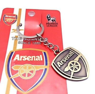 New Arsenal FC Club Crest Metal Keyring Keychain Xmas Gift