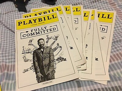 Fully Committed Playbill Jesse Tyler Ferguson July 2016 Lyceum Theatre Broadway