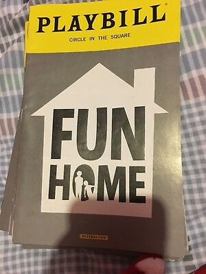 Fun Home Musical Broadway July 2016 Playbill Circle In The Square Tony Awards