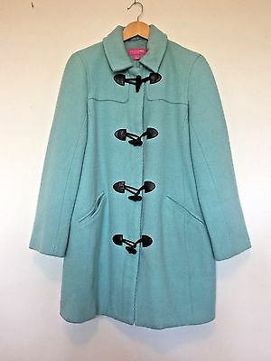 Liz Lange Maternity Coat Maternity Jacket Medium Aqua Warm Wool Blend