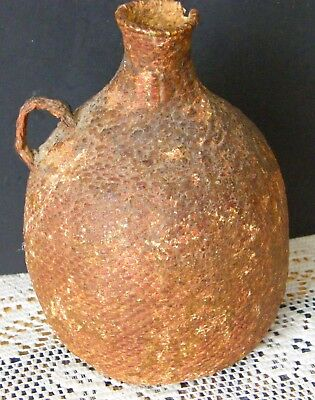 Antique Paiute Tight Woven Small Water Jug Pine Tar Sealed 100 Plus Years Old