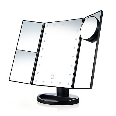 USB Vanity Makeup Countertop Cosmetic Mirror 21Led Lighted with Touch Screen ML
