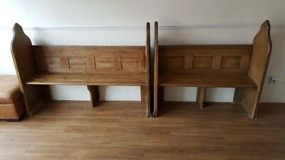 antique pine church pews