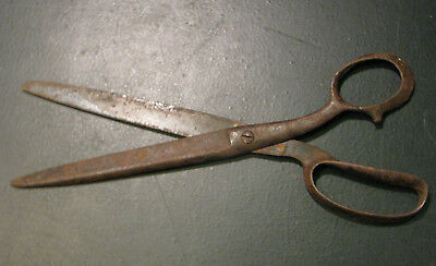 "Antique Large Sewing Scissors 95"" Old Tool Tailor"