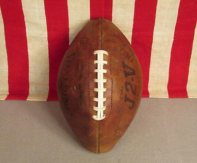 Vintage Spalding Official J2-V Leather Football with Laces Great Display Ball!