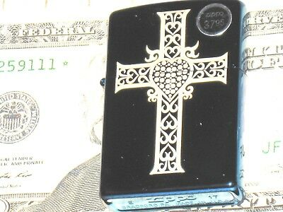 New ZIPPO USA Windproof Lighter God 12778 Sapphire Heart Cross Jesus Loves You