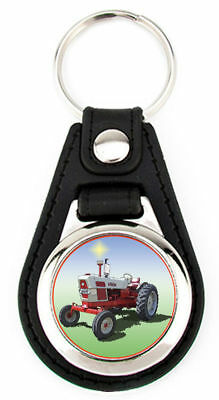 Ford 6000 Farm Tractor Richard Browne Artwork Keychain Key Fob -