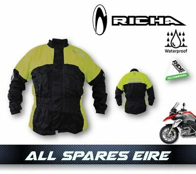 Richa Rain Warrior Fluo 100% Waterproof Over Coat/jacket Motorcycle Bike Hi-Viz