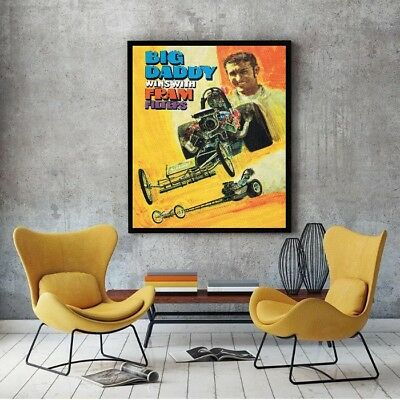 """Large Size 24""""x32"""" Don Garlits 1970 Top Fuel Dragster Poster"""
