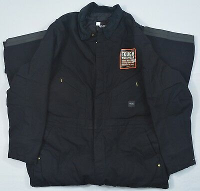Walls Workwear #4440 NEW Men's Black Insulated Coveralls