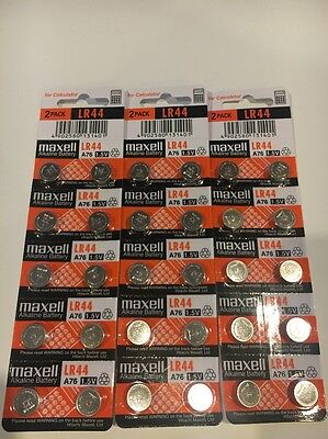 30 New Lr44 Maxell A76 L1154 Ag13 357 Sr44 303 Battery Free Shipping Usa Seller