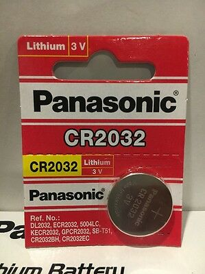 1 battery Panasonic CR2032 ECR2032 3v lithium  Fresh USA Seller Exp. 2028