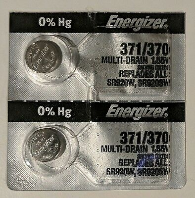 2 Energizer 371/370 SR920SW Silver Oxide Watch Battery USA SELLER