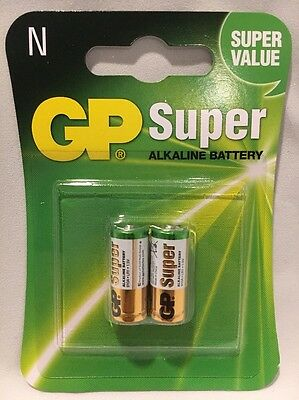 2 Gp Super Alkaline Battery Size N 2 Pack E90 N Lr1 Mn9100 910A